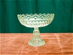 Pressed Glass Crystal Stemmed Compote