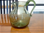 Jamestown Light Green Glass Pitcher With Ice Lip