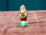 Celluloid Christmas Santa Claus Candy Container