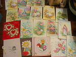 Collection Of 21 Vintage Holiday Or Greeting Cards