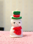 Snowman Gurley Candle, Unused, Made In The Usa