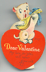 Very Cute 1930s Pig With Banjo Dear Valentine Mechanica