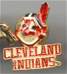 Cleveland Indians Cloisonné Face And Gold Metal Pin