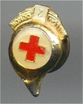 2 Gallon Red Cross Blood Donor Cloisonné Face And Gold