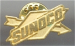 Sunoco Gas Company Gold Face And Gold Metal Pin