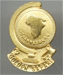 Johanisburg Gold Safari Gold Face And Gold Metal Pin