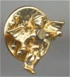 Reaching Angel Gold Face And Gold Metal Pin