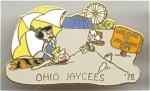 Ohio Jaycees Barney And Betty Rebble Pin