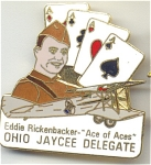 Ohio Eddie Rickenbacker Ace Of Aces Jaycees Pin