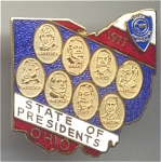 Ohio 1977 State Of 8 Presidents Jaycees Pin
