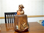 California Originals Bear On Stump Cookie Jar