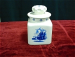 Blue Delft Cookie Jar