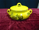Large Hand Painted Covered Casserole