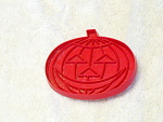 Halloween Time For Cookies Red Plastic Pumpkin