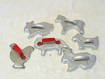 Christmas Time For Animal Cookies 5 Different Cutters