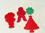 Christmas Time For Cookies 4 Different Cutters