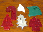 Collection Of 6 Christmas Cookie Cutters