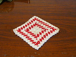 Hand Crocheted Square Heat Pad Or Pot Holder