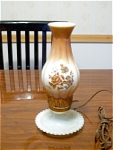 Floral Decorated Milk Glass Lamp