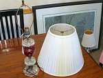 1940s Crystal And Amethyst Glass Table Lamp With Shade