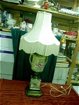 Circa 1930s To 1940s Hand Painted Pottery Lamp
