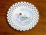 Duck In Pond Art Collector Plate Signed Tary