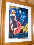 La Dolce Vita Miniature Replica Movie Poster