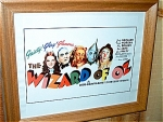 The Wizard Of Oz Miniature Replica Movie Poster