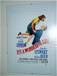 Its A Wonderful Life Miniature Replica Movie Poster
