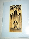 Metropolis Miniature Replica Movie Poster