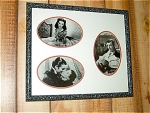 3 Black & White Photo Set Of Gone With The Wind