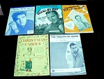 Collection Of 5 Sheet Music Booklets