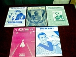 Five 1940s To 1950s Sheet Music