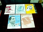 Five 1920s To 1950s Sheet Music