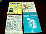 Collection Of 4 Sheet Music Booklets