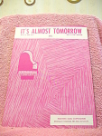 Its Almost Tomorrow Sheet Music From 1955
