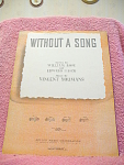Without A Song Sheet Music From 1929