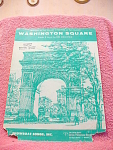 Washington Square Sheet Music From 1963