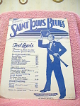 Saint Louis Blues With Ted Lewis Sheet Music From 1914
