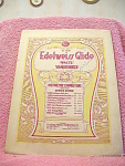 Edelweis Glide, Waltz, Vanderback Sheet Music From 1908