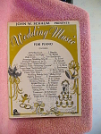Wedding Music For Piano, All Songs On Front, From 1969