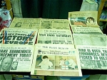Lot Of 12 Critical Event Newspaper Articles