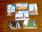 6 Postcards Of Churches