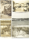 6 Black And White Photo Postcards, Circa 1940s, 1950s