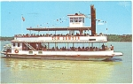 Postcard Of Tom Sawyer Paddle Wheel Boat
