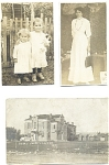 3 Real Photo Black And White Photograph Postcards