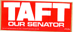 1976 Ohio Taft Our Senator Political Bumper Sticker