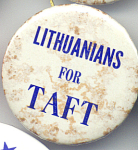 Lithuanians For Taft 1970s Ohio Political Campaign