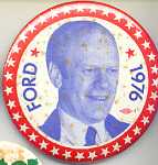 Ford Photograph 1976 Presidential Campaign Button