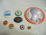 Collection Of 8 Presidential Buttons And Others